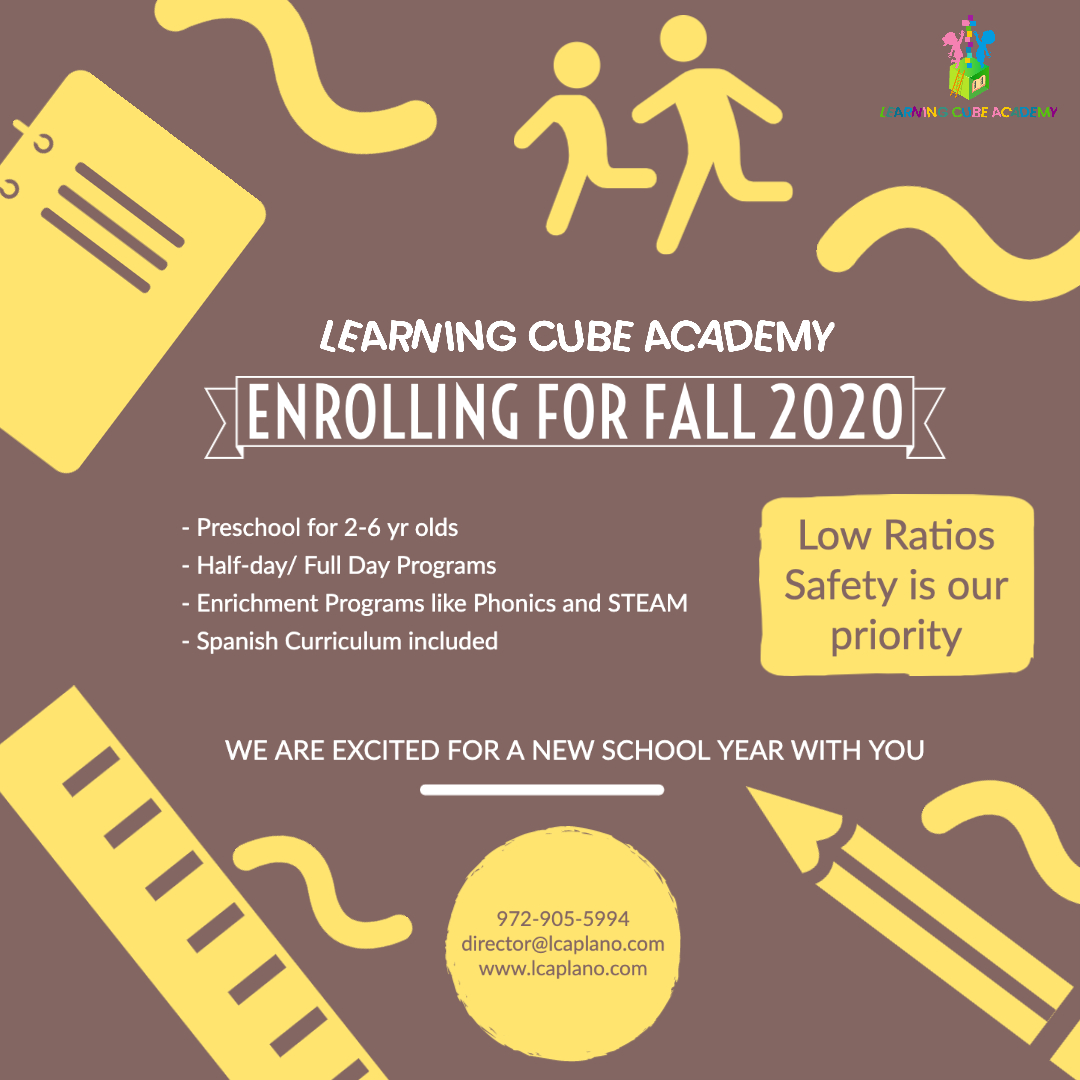 Learning Cube Academy is enrolling for Fall 2020