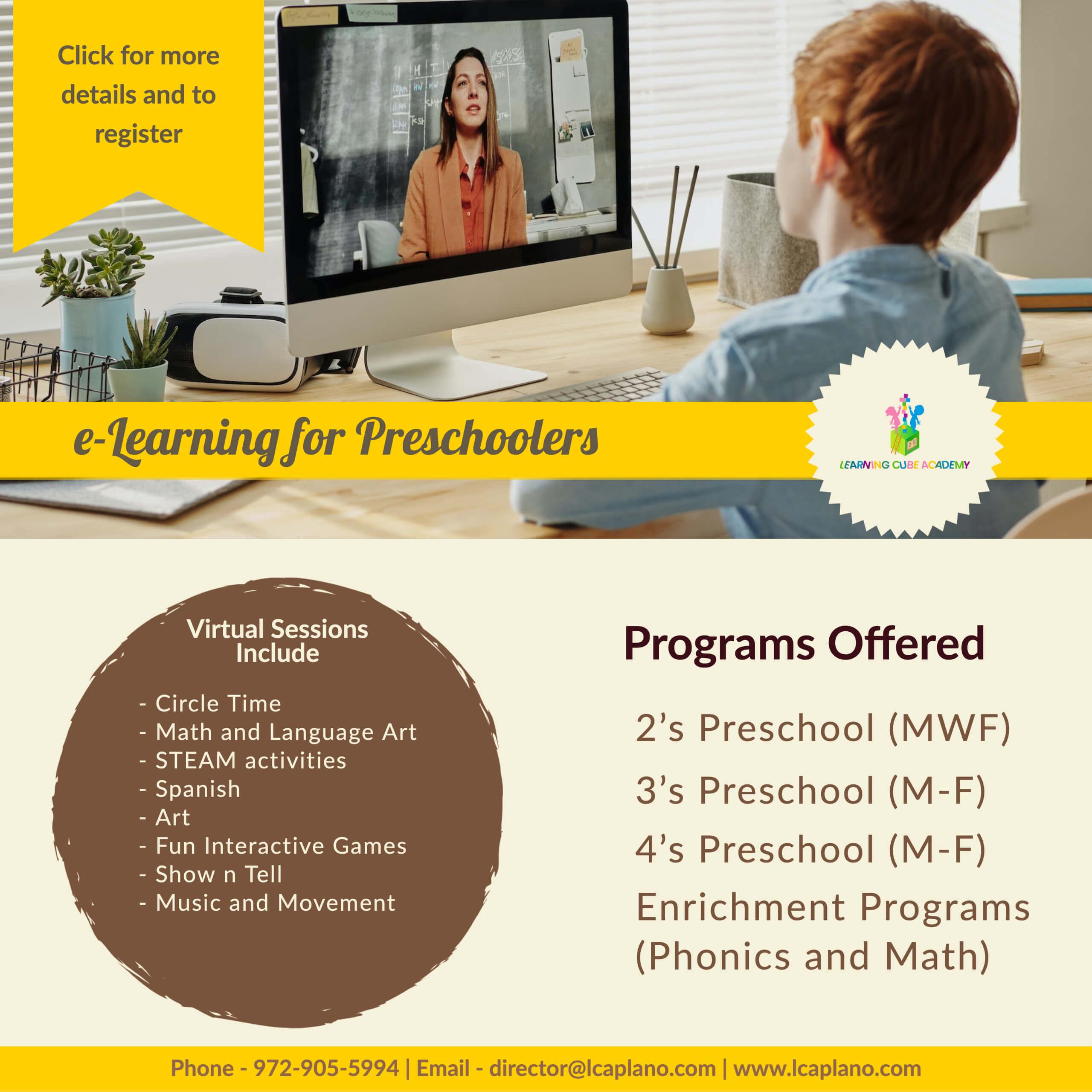 Virtual preschool elearning